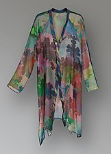 Flying Jacket - Leaves by Uosis Juodvalkis  and Jacquie Rice  (Silk Jacket)