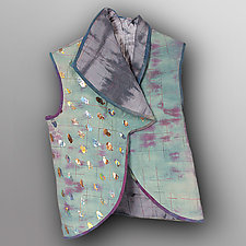 Hand Dyed Linen Reversible Vest 2 by Uosis Juodvalkis  and Jacquie Rice  (Linen Jacket)