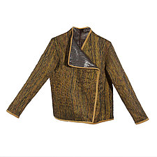 Glazed Stone Linen and Silk Jacket by Uosis Juodvalkis  and Jacquie Rice  (Linen Jacket)