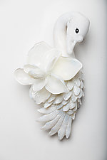 Magnolia by Grant Garmezy (Art Glass Wall Sculpture)
