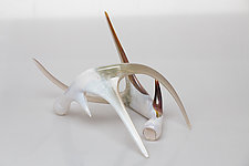 Art Glass Antler Set by Grant Garmezy (Art Glass Sculpture)