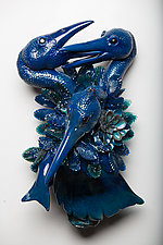 Quarrel by Grant Garmezy (Art Glass Wall Sculpture)