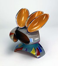 Low Remnant Sculpture by Justin Hunting (Art Glass Sculpture)