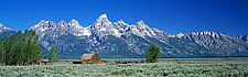 Grand Tetons and Barn by Terry Thompson (Color Photograph)