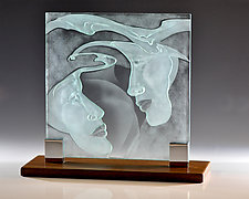 Swept Away by Susan Bloch (Art Glass Sculpture)