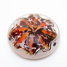 Pomegranate Paperweight by April Wagner (Art Glass Paperweight)