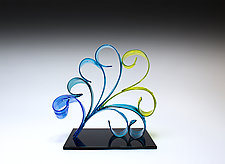 Petite Pavo by April Wagner (Art Glass Sculpture)