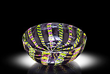 Amethyst Zanfirico by April Wagner (Art Glass Bowl)