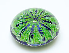 Green Sea Urchin by April Wagner (Art Glass Paperweight)