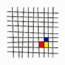 Mondrian by Karo Martirosyan (Art Glass Wall Sculpture)