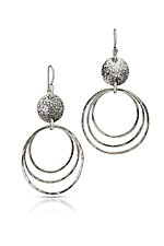 Three Ring Dangles by Susie Aoki (Silver Earrings)