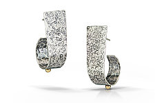 Open Hoop Earrings by Susie Aoki (Gold & Silver Earrings)