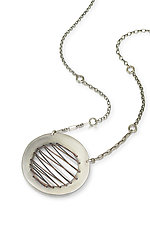 Round Sewn Necklace by Susie Aoki (Silver Necklace)