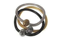 Set of Magnetic Bead Bracelets by Erica Zap (Gold & Metal Bracelets)