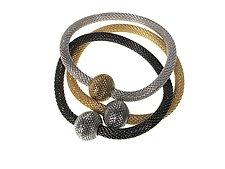 Set of Magnetic Bead Bracelets by Erica Zap (Gold & Metal Bracelets)