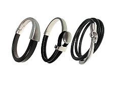 Mix-Match Leather Bracelet Set II by Erica Zap (Leather & Metal Bracelets)