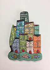 Naples II by Lilia Venier (Ceramic Wall Sculpture)