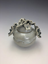 Snow Butterflies by Lilia Venier (Ceramic Jar)