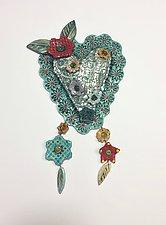 Heart Tile I by Lilia Venier (Ceramic Sculpture)