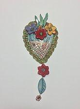 Heart Tile X by Lilia Venier (Ceramic Sculpture)