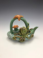 Making Friends II by Lilia Venier (Ceramic Teapot)