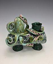 Octo I by Lilia Venier (Ceramic Candleholders)