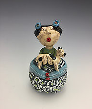 Puppy Love by Lilia Venier (Ceramic Jar)