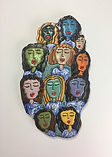 Diversity by Lilia Venier (Ceramic Wall Sculpture)