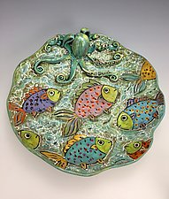 Under the Sea III by Lilia Venier (Ceramic Platter)