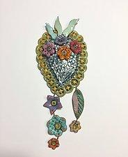 Heart Tile IV by Lilia Venier (Ceramic Sculpture)