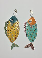 Fish Tiles I by Lilia Venier (Ceramic Sculpture)