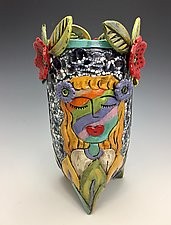 Club Friends II by Lilia Venier (Ceramic Vase)