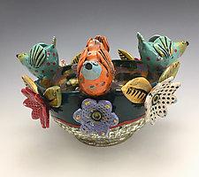 Spring Celebration by Lilia Venier (Ceramic Bowl)