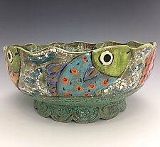 Fishes, Fishes III by Lilia Venier (Ceramic Bowl)