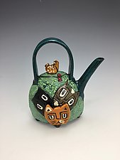 Neighbor's Cats by Lilia Venier (Ceramic Teapot)