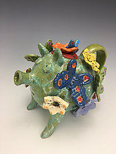 Pig with Friends by Lilia Venier (Ceramic Teapot)