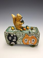 In My Backyard by Lilia Venier (Ceramic Box)