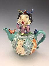 Butterfly Girl by Lilia Venier (Ceramic Teapot)