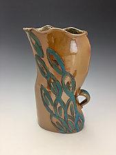 Blue Fall by Lilia Venier (Ceramic Vase)