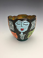 Choir Friends by Lilia Venier (Ceramic Bowl)