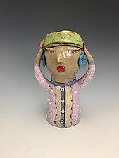 Lady in Pink by Lilia Venier (Ceramic Vase)