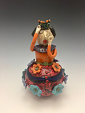 The Red Queen by Lilia Venier (Ceramic Jar)