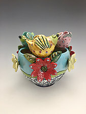 Spring Celebration II by Lilia Venier (Ceramic Bowl)