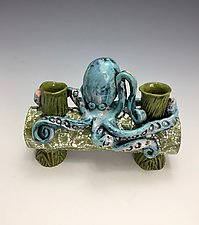 Octo II by Lilia Venier (Ceramic Candleholders)