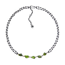 Leskea Necklace by Michelle Pajak-Reynolds (Silver & Stone Necklace)