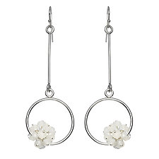 Adva Moonstone Drop Earrings by Michelle Pajak-Reynolds (Silver & Stone Earrings)