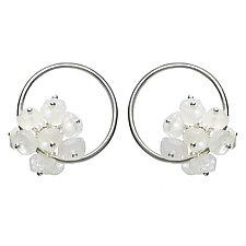 Small Adva Moonstone Hoops by Michelle Pajak-Reynolds (Silver & Stone Earrings)