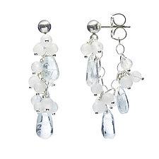 Kailani Chain Hoop Earrings by Michelle Pajak-Reynolds (Silver & Stone Earrings)