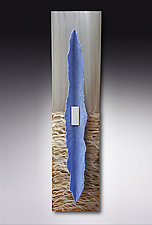 Beached Horizon by Kevin Lubbers (Art Glass Wall Sculpture)