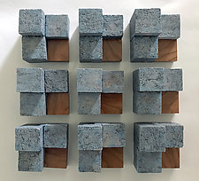 Puzzle II by Jan Hoy (Ceramic Wall Sculpture)